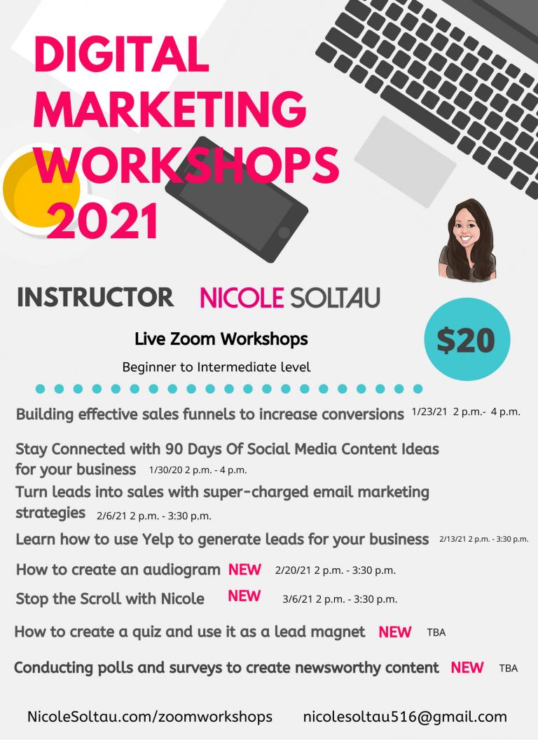 2021 Digital Marketing Workshops